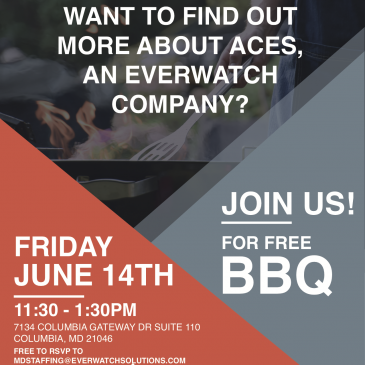 BBQ Social on Friday, June 14th from 11:30 p.m. – 1:30 p.m.