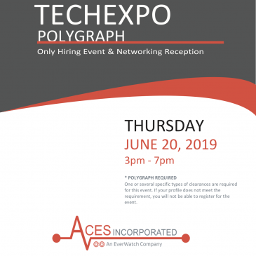 Come meet the recruiting team at the Tech Expo Job Fair at the BWI Marriott on Thursday, June 20th!